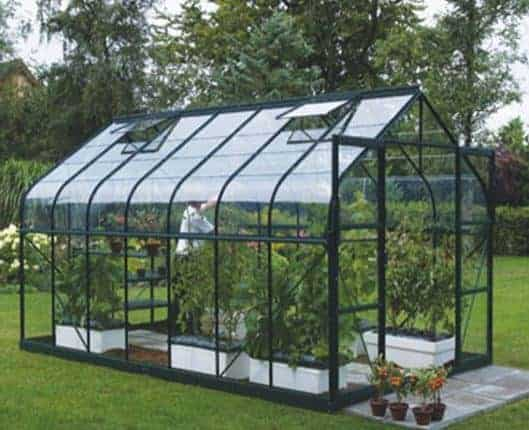 8 x 8 Vitavia Saturn 6700 Green Apex Greenhouse