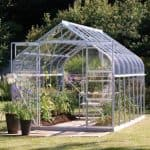 8 x 8 Vitavia Saturn 6700 Silver Apex Greenhouse