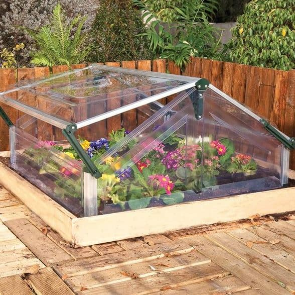 Palram 3 x 3 Silver Double Cold Frame