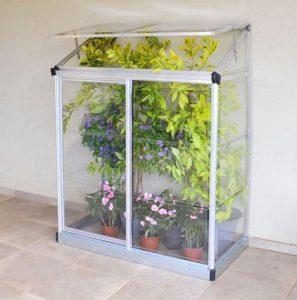 Palram 4 x 2 Lean-To Silver Mini Greenhouse