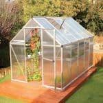 Palram 6 x 10 Mythos Silver Polycarbonate Greenhouse