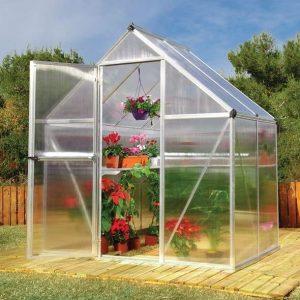 Palram 6 x 4 Mythos Silver Polycarbonate Greenhouse