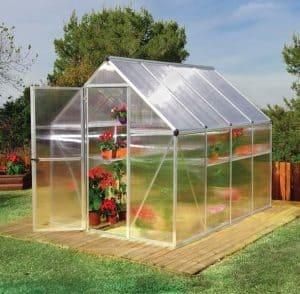 Palram 6 x 8 Mythos Silver Polycarbonate Greenhouse