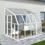Palram 8 x 16 White Lean-To Sun Room