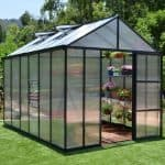 Palram 8 x 20 Glory Dark Grey Polycarbonate Greenhouse