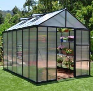 Palram 8 x 20 Glory Dark Grey Polycarbonate Greenhouse