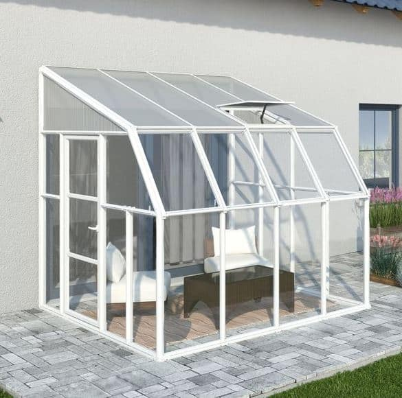 Palram 8 X 8 White Lean To Sun Room What Shed
