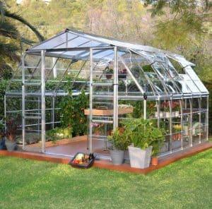 Palram Americana 12 x 12 Silver High Headroom Greenhouse