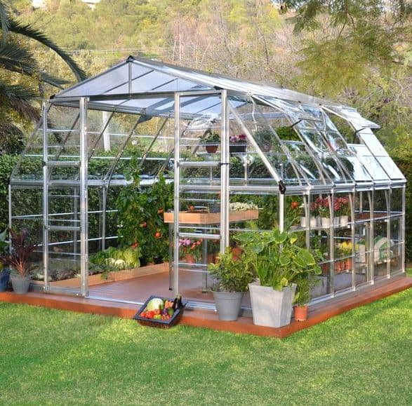Palram Americana 12 x 12 Silver High Headroom Greenhouse