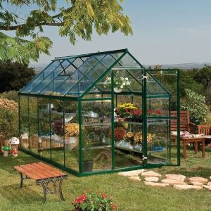 Palram Harmony 6 x 10 Green Polycarbonate Greenhouse