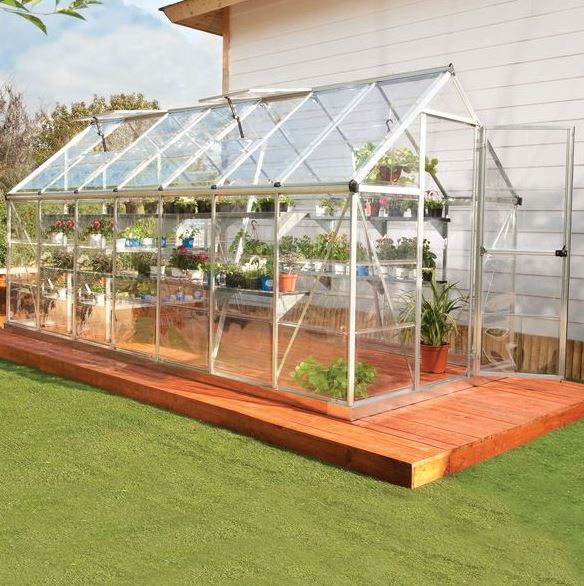 Palram Harmony 6 x 14 Silver Polycarbonate Greenhouse - What Shed