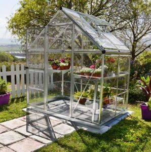 Palram Harmony 6 x 4 Silver Clear Polycarbonate Greenhouse