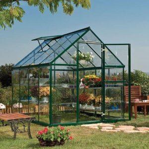 Palram Harmony 6 x 8 Green Polycarbonate Greenhouse