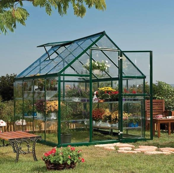 Palram Harmony 6 x 8 Green Polycarbonate Greenhouse