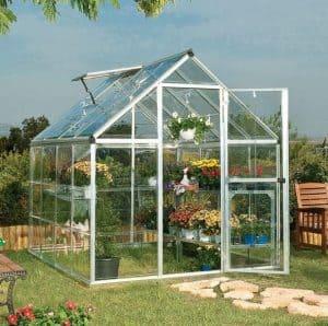 Palram Harmony 6 x 8 Silver Polycarbonate Greenhouse
