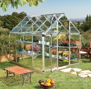 Palram Snap Amp Grow 6 X 8 Silver Greenhouse What Shed