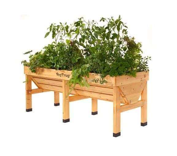 Vegtrug 1.8m Medium Wooden Patio Planter