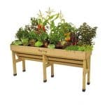 Vegtrug Wall Hugger 1.8m Medium Wooden Patio Planter