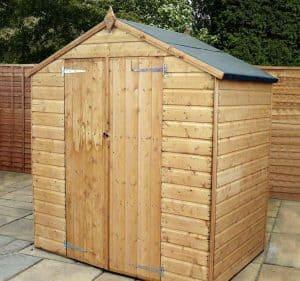 6' x 4' Windsor Somerset Double Door Wooden Garden Shed