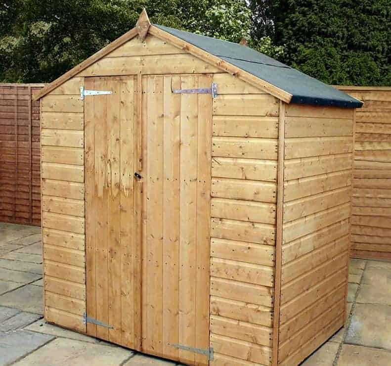 6' x 4' Windsor Somerset Double Door Wooden Garden Shed