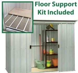 6'6 x 3'11 Yardmaster Pent Metal Shed 64PZ+ Floor Support Kit Inlcuded