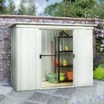 6'6 x 3'11 Yardmaster Pent Metal Shed 64PZ+ With Floor Support Kit