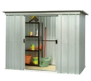 6'6 x 3'11 Yardmaster Pent Metal Shed 64PZ+ With Floor Support Kit Side View