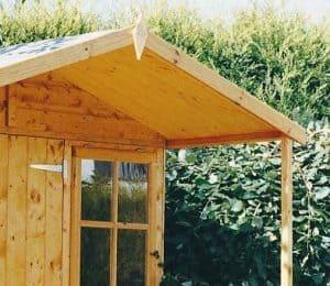 7'1 x 8'11 (2.2x2.7m) Shire Casita including Veranda Roofing and Windows