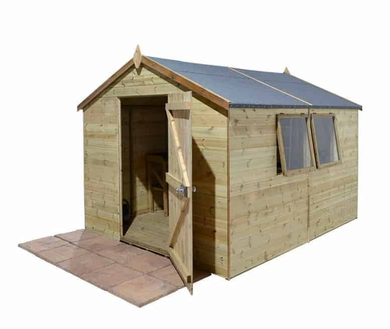 X Shed Plus Champion Heavy Duty Apex Single Door Shed