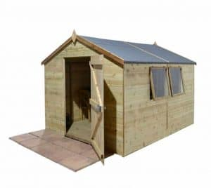 10' x 6' Shed-Plus Champion Heavy Duty Apex Single Door Shed Unpainted