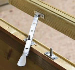 10' x 6' Shed-Plus Champion Heavy Duty Apex Single Door Shed Window Latch