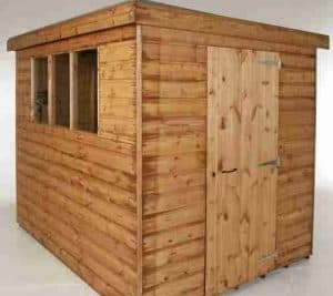 10' x 6' Traditional Standard Pent Shed Side View