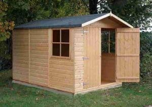 10' x 6'6 Shire Guernsey Double Door Shed Open Door