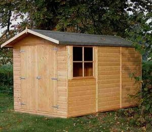 10' x 6'6 Shire Guernsey Double Door Shed Side View
