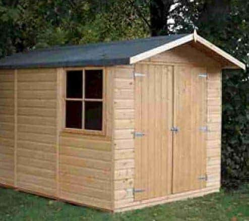 10' x 6'6 Shire Guernsey Double Door Shed