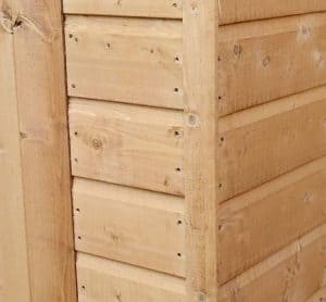 10' x 8' Windsor All-Purpose Shiplap Pent Shed Cladding