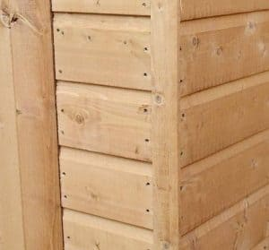 10' x 8' Windsor All-Purpose Shiplap Pent Shed External Cladding