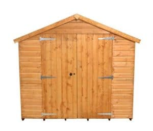 10'1 x 8'1 Shed-Plus Shiplap Workshop Shed Closed Door