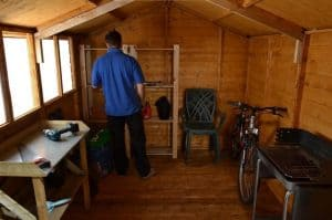 10'1 x 8'1 Shed-Plus Shiplap Workshop Shed Inside View