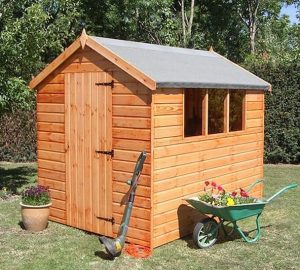 12' x 6' Traditional Standard Apex Shed Unpainted