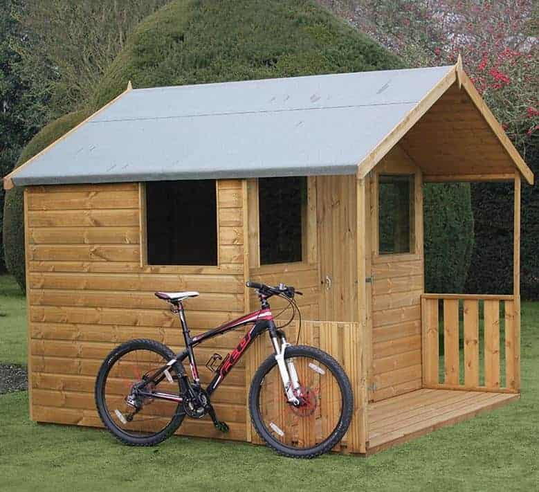 6' x 8' Traditional 8' Cabin Shed