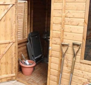 6' x 8' Windsor Curved Roof AERO Shed Flooring and Door