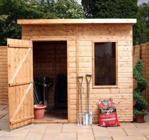6' x 8' Windsor Curved Roof AERO Shed Front View
