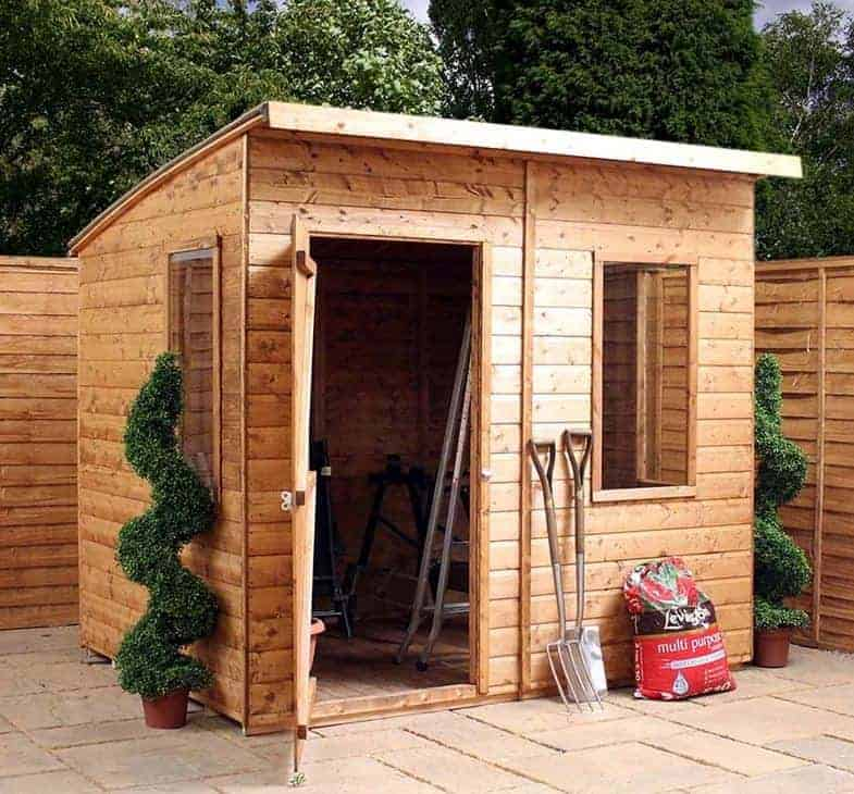 6' x 8' Windsor Curved Roof AERO Shed