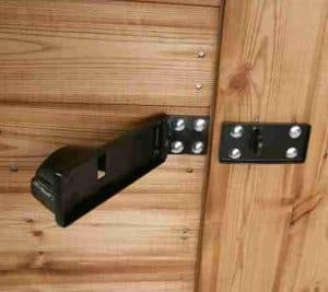 7' x 5' Traditional Apex Security Shed Door Lock Security