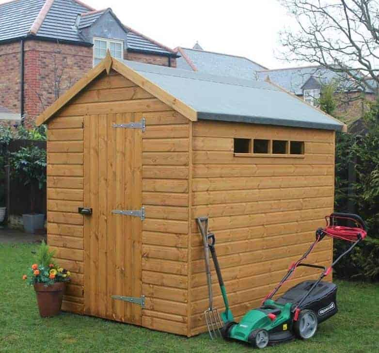 7' x 5' Traditional Apex Security Shed