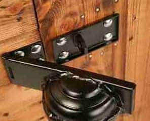 7' x 5' Traditional Pent Security Shed Door Lock