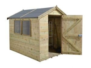 8' x 6' Shed-Plus Champion Heavy Duty Apex Single Door Shed 1