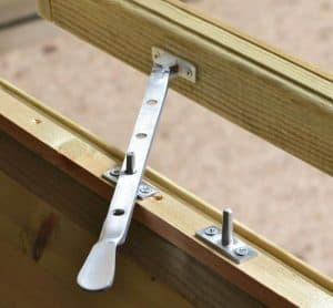 8' x 6' Shed-Plus Champion Heavy Duty Reverse Apex Single Door Shed Window Latch
