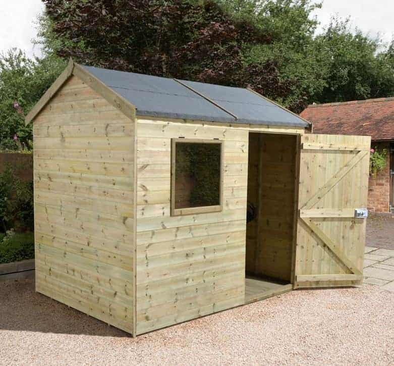 8' x 6' Shed-Plus Champion Heavy Duty Reverse Apex Single Door Shed